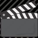 clapboard, film, movie