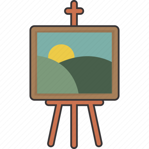easel, picture icon