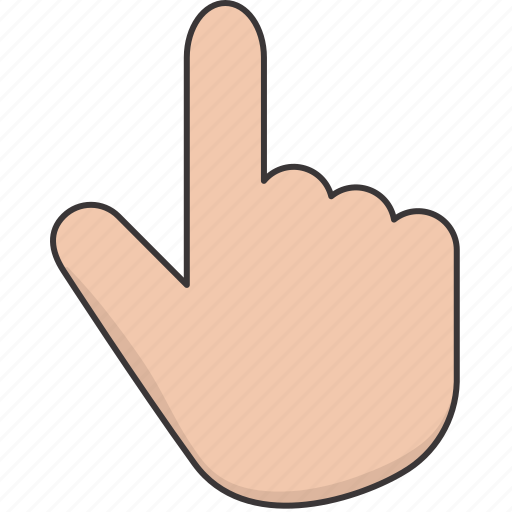 click, finger, hand, point, select icon