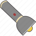 flash, flashlight, light, torch icon