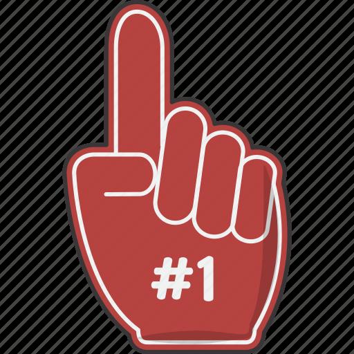 #1, finger, foam, hand icon