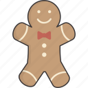 cookie, gingerbread, man icon