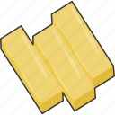 bar, bars, gold icon