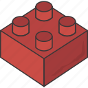 block, building block, piece, toy bricks icon