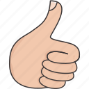 like, thumbs up, yes icon