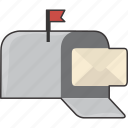 box, mail, mailbox, message icon