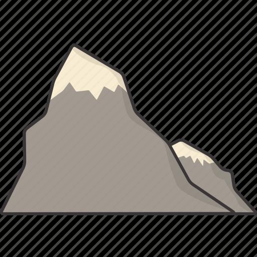 mountain, mountains icon