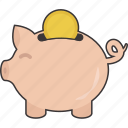 bank, money, piggy, piggy bank, piggybank, savings icon