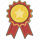 badge, prize, reward, ribbon icon