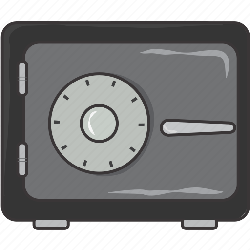 safe, secure, vault icon