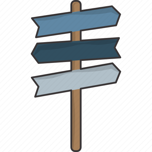 direction, post, sign, signpost icon