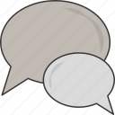 bubbles, chat, conversation, speech icon