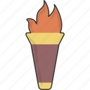 olympic, torch icon