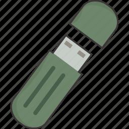 drive, flash, stick, thumb, usb icon