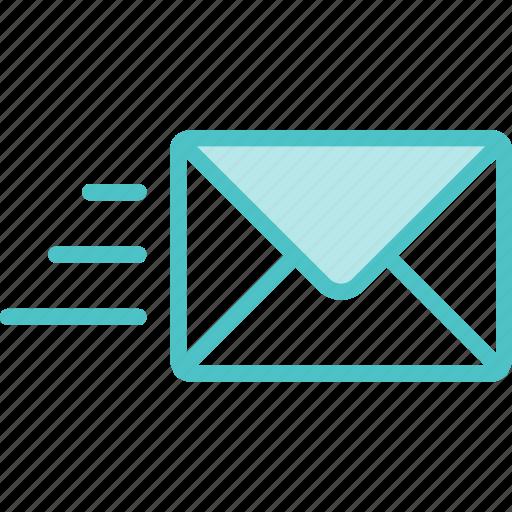 envelope, mail, sent icon