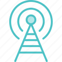 broadcast, radio, tower icon