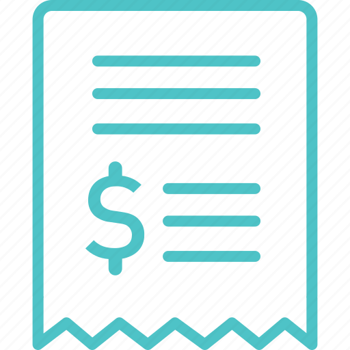 invoice, receipt, sale icon