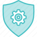 gear, security, shield icon