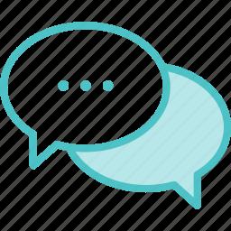 bubbles, chat, speech icon