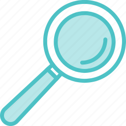 glass, magnifying, zoom icon