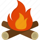 camp, campfire, fire icon