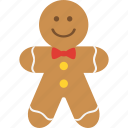 christmas, gingerbread, gingerbread man, man icon