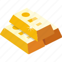 bar, finance, gold, gold bar icon
