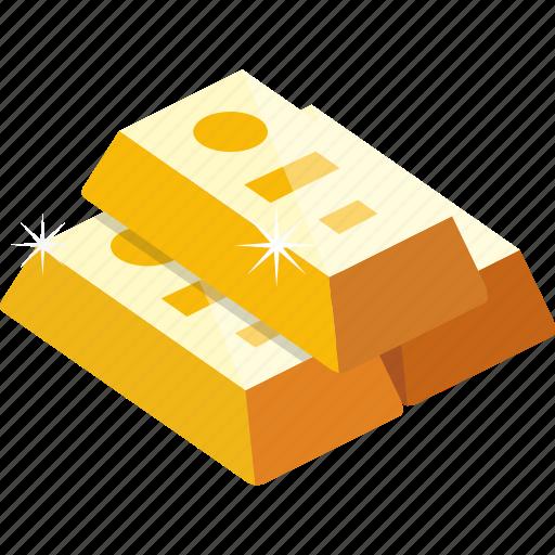 bar, finance, gold, gold bar icon
