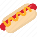 dog, hot, hot dog, hotdog icon