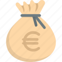 bag, euro, money