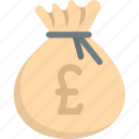 bag, money, pound icon