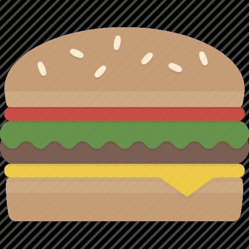 burger, cheeseburger, fast food, hamburger, meal icon