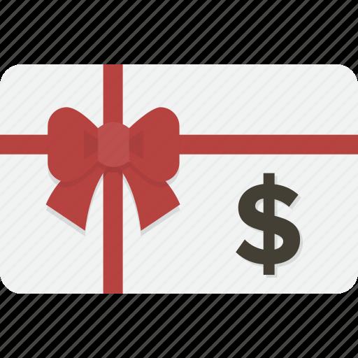 card, dollar, gift, gift card, shopping icon