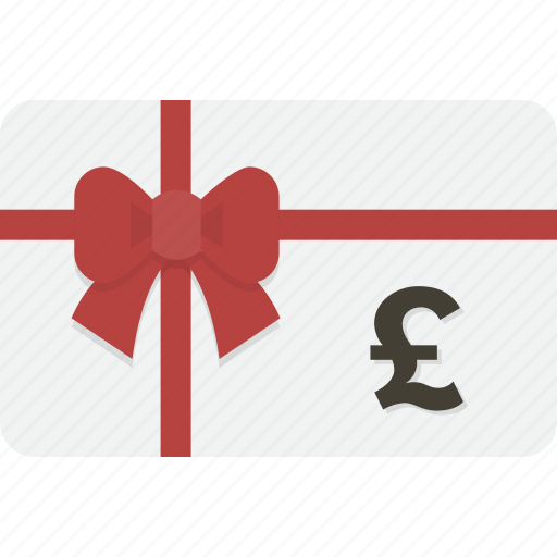card, gift, gift card, pound, shopping icon