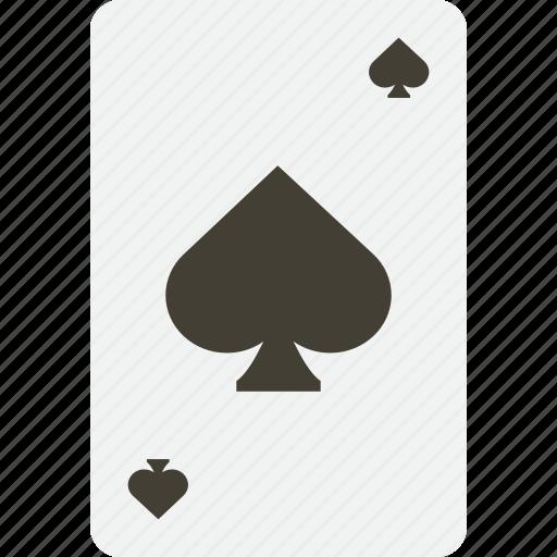 card, casino, gambling, playing, poker, spades icon