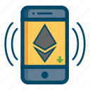 app, cellular, ethereum, mobile icon