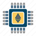 blockchain, crypto, ethereum, mining icon