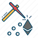 blockchain, digital, ethereum, mining icon