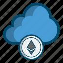 blockchain, cloud, ethereum, mining icon