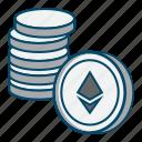 coin, coins, ethereum, money icon