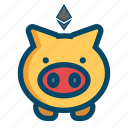 coin, ethereum, save, savings icon
