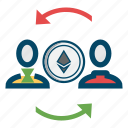 coin, crypto, ethereum, transfer icon