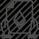 blockchain, cryptocurrency, document, eth, ethereum