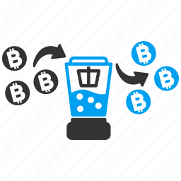 bitcoin, crypto mixer, currency conversion, financial, mix, mixing service, money laundering icon