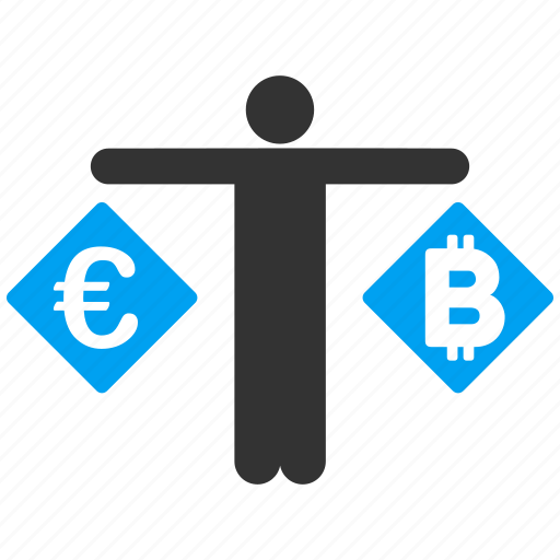 bank person, bitcoin, change, compare, currency exchange, euro, money transactions icon