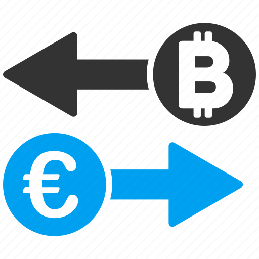 banking, bitcoin, change, currency exchange, euro, money transactions, transfer icon