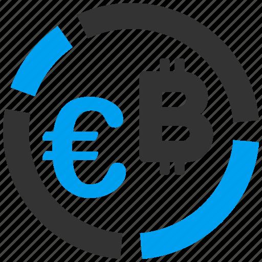 analysis, bitcoin, chart, euro, finance, financial diagram, graph icon