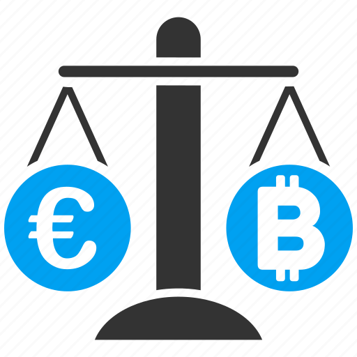 balance, bitcoin, change, compare, euro, finance, weight icon