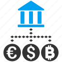 business, currency, finance, financial center, market, money exchange, payment icon