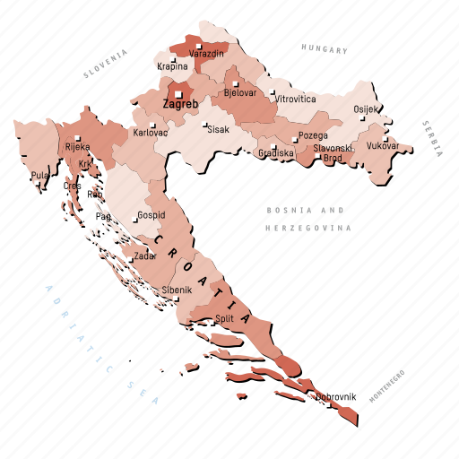 countries, country, croatia, europa, europe, map, maps icon